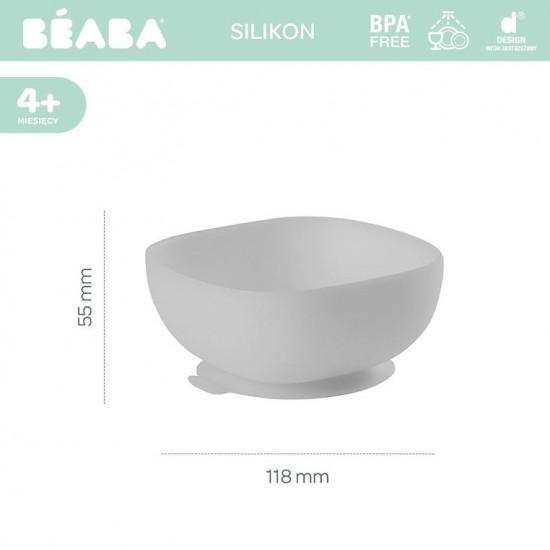 Beaba Silikonowa miseczka z przyssawką grey
