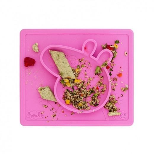 EZPZ Silikonowa miseczka z podkładką 2w1 Peppa Pig™ różowa