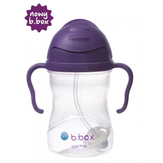 Bidon ze słomką 240 ml, winogronowy, b.box