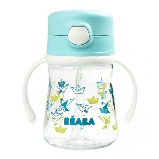 Beaba Butelka-bidon tritanowa ze słomką 240 ml Light blue
