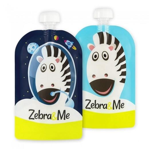 Zebra & Me ASTRO - 2 SZT Saszetki do karmienia wielorazowe