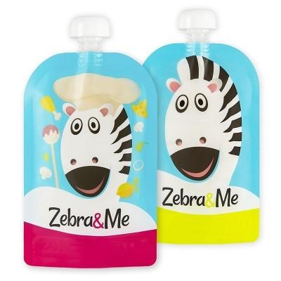 Zebra & Me CHEF - 2 SZT Saszetki do karmienia wielorazowe