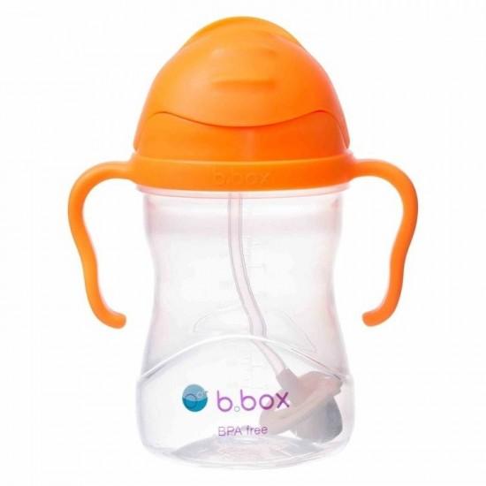 Bidon ze słomką 240 ml, pomarańczowy, b.box