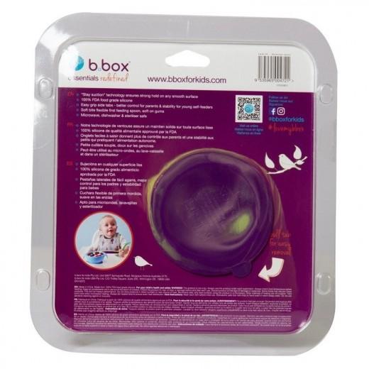 Silikonowa miseczka z przyssawką i łyżeczką, Passion splash, b.box