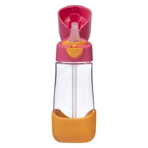 Tritanowa butelka ze słomką 450 ml, Strawberry Shake, b.box