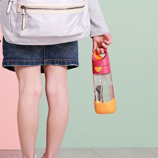 Butelka tritanowa ze słomką 450 ml, Passion Splash, b.box