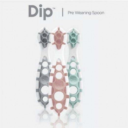 CogniKids Dip® 2 Sensoryczne łyżeczki do nauki samodzielnego jedzenia Slate & Blush