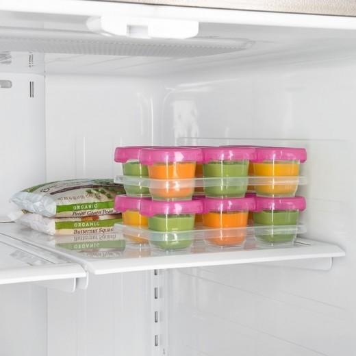 OXO Pojemniki do Zamrażania Żywności 6szt Pink