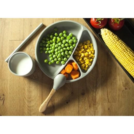 MINIKOIOI Łyżeczki do nauki samodzielnego jedzenia zielona szara