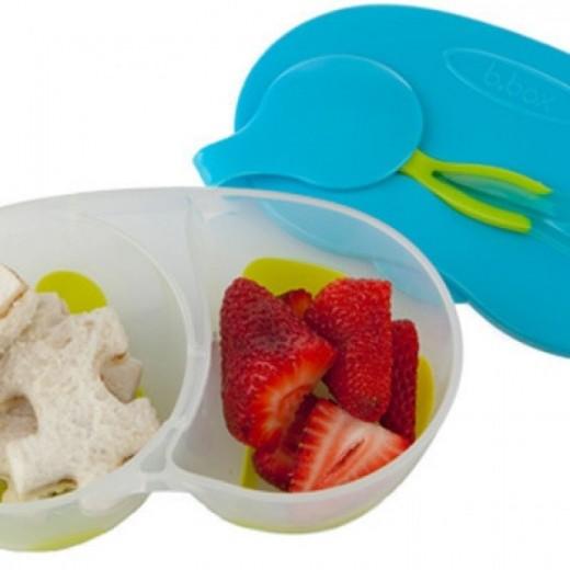 Pojemnik podwójny na żywność, zielono-niebieski, b.box