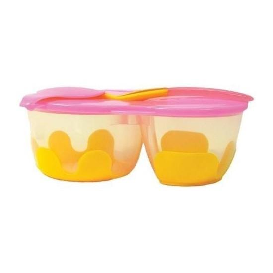 Pojemnik podwójny na żywność, pomarańczowo-różowy, b.box