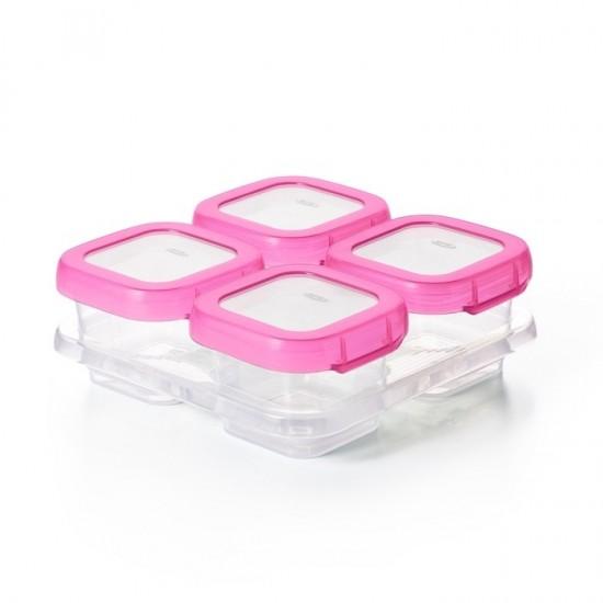 OXO Pojemniki do Zamrażania Żywności Pink 4 szt