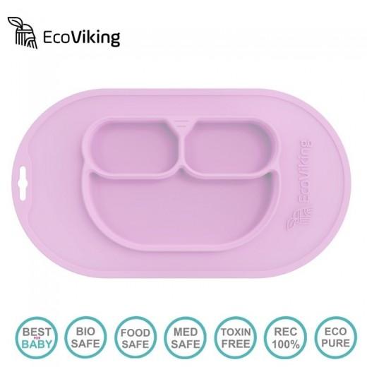 Eco Viking BLW 4 in 1 Eating Helper Owl Talerzyk Lavender