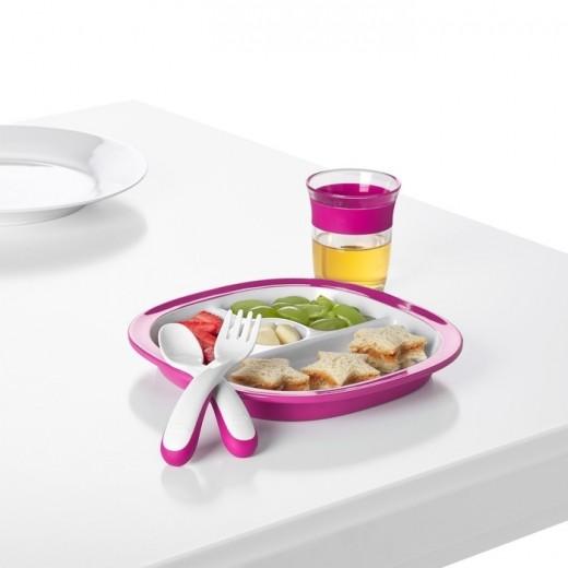 OXO Sztućce Plastikowe 12m+ Pink 4 szt