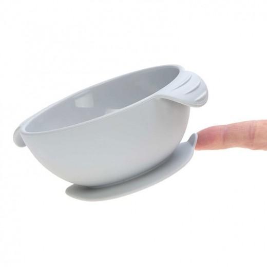 Lassig Miseczka silikonowa z przyssawką Little Chums Mysz szara