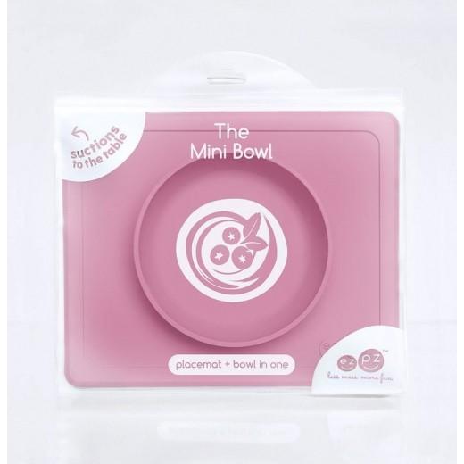 EZPZ Silikonowa miseczka z podkładką 2w1 Mini Bowl różowy