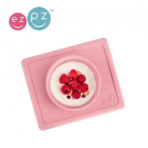EZPZ Silikonowa miseczka z podkładką 2w1 Mini Bowl pastelowy róż