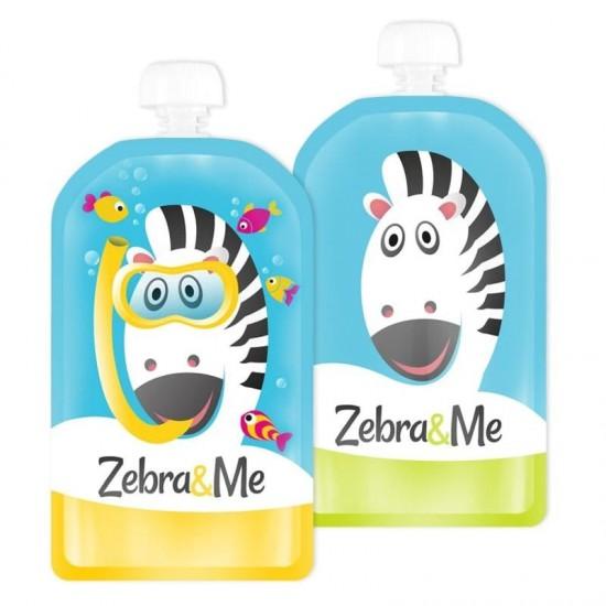 Zebra & Me DIVER - 2 PACK Saszetki do karmienia wielorazowe