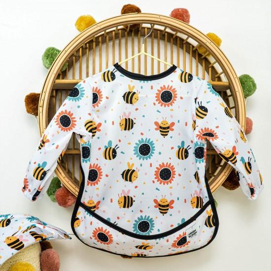 Śliniak z rękawami Bee Happy