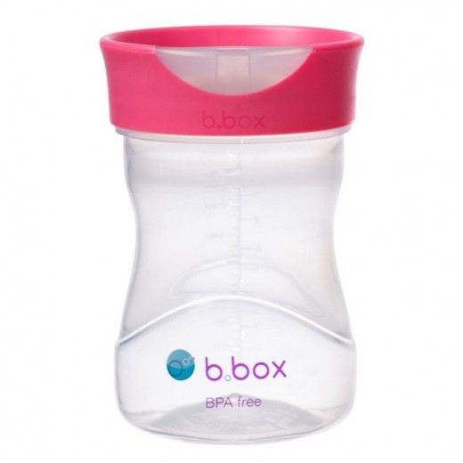 Kubek treningowy 240 ml, malinowy, b.box